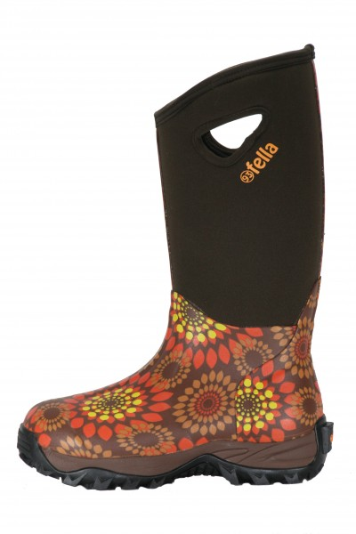 93' Fella-Outdoorstiefel Winni hoch orange-braun ABVERKAUF!